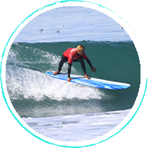 Talented surf instructors